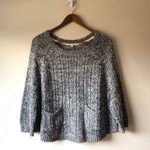 Anthropologie Moth Knit Heathered Pocket Sweater